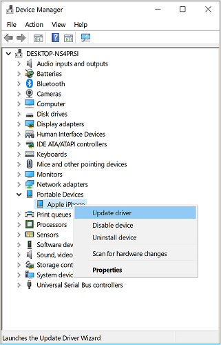 wwindows10 device manager update drivers