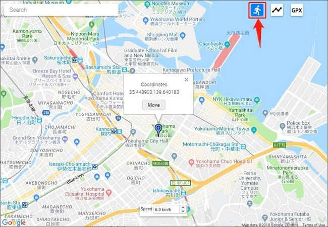 select single point simulation mode and fake gps