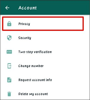 select privacy on whatsapp