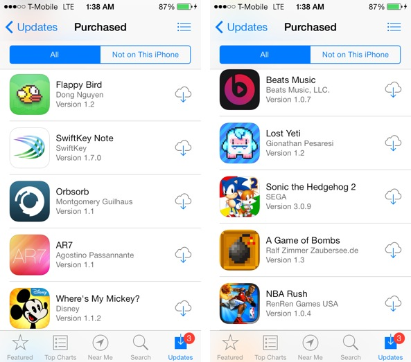 cloud with downwards arrow in app store