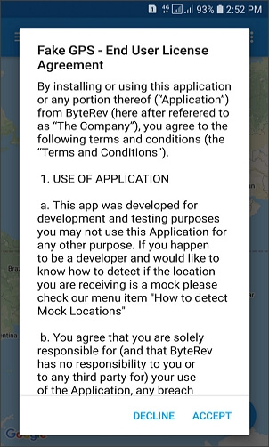 download fake gps app on your android