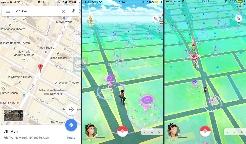 location changed on Pokemon