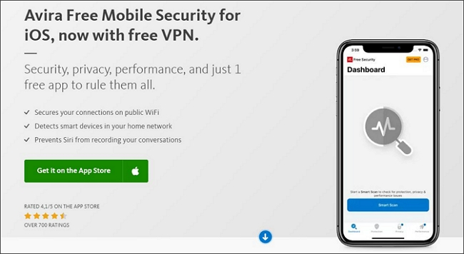 Avira Mobile Security anti tracking software