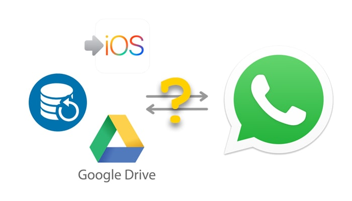 google drive, backup and move to ios cannot transfer whatsapp from android to iphone