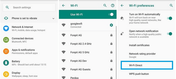enable wi-fi direct