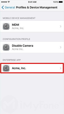 select the GBAiOS emulator under enterprise app