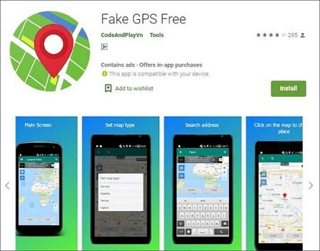 Fake GPS Free app