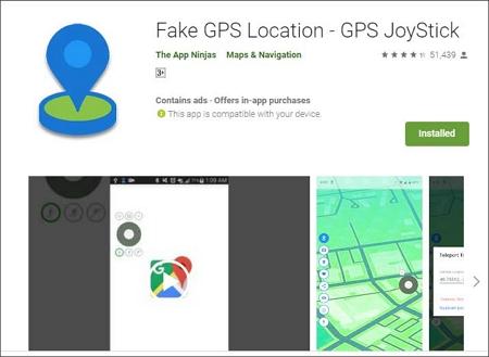 Fake GPS Location-GPS JoyStick app