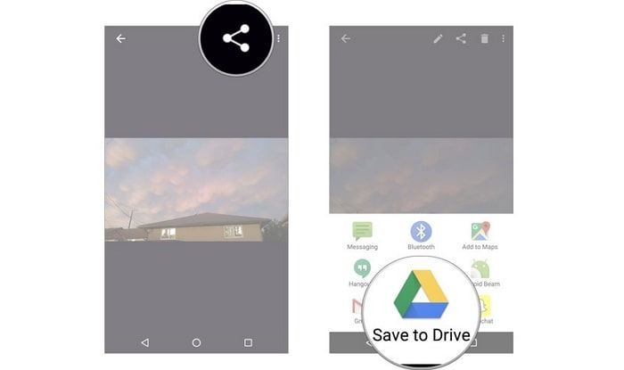 google drive upload videos