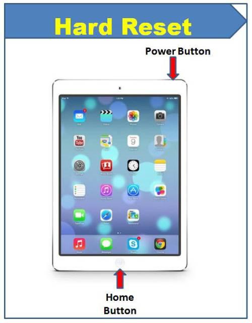 Hard Reset the iPad