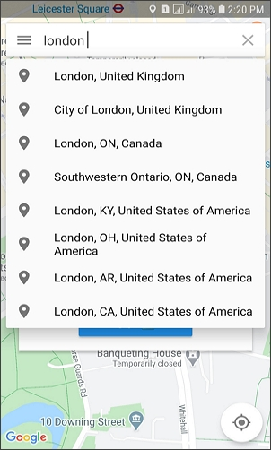 select location on hola