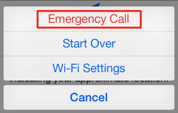 iPhone emergency call