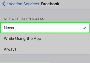 turn off location services for specific app