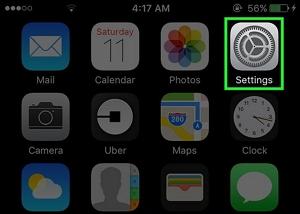 settings on iphone