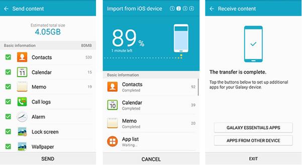 transfer data via samsung smart switch