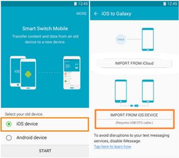 transfer messages via samsung smart switch