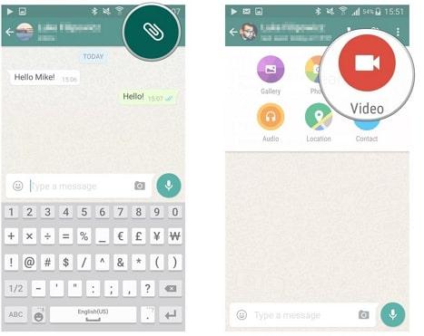 whatsapp send videos