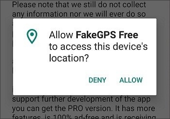 allow fake gps go access location
