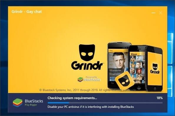open Grindr on BlueStacks