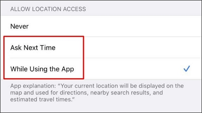 allow location access on Pokemon Go app
