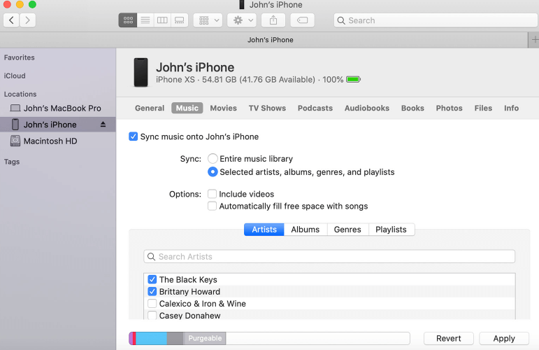 Cannot find iTunes use Finder