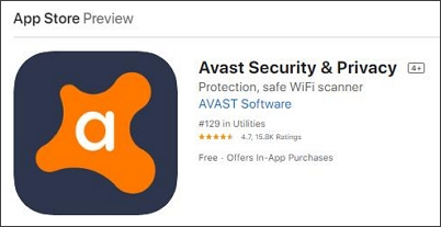 Avast Antivirus spyware removal apps for iphone