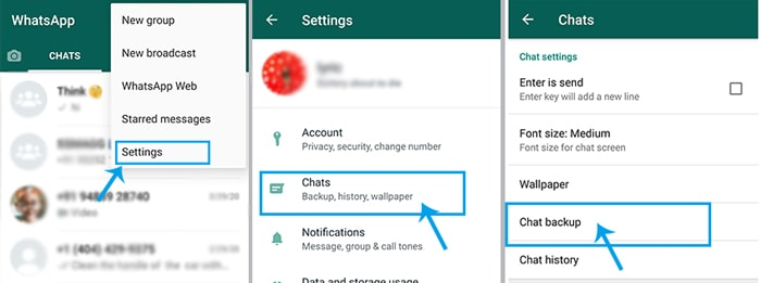 backup whatsapp android to google drive