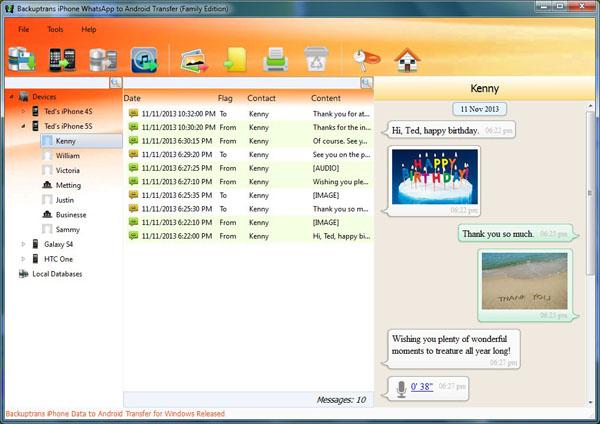 backuptrans backup whatsapp on iphone