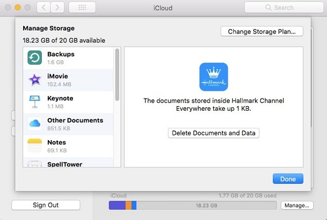 remove apps data from icloud mac users
