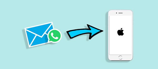 export whatsapp to iphone via email