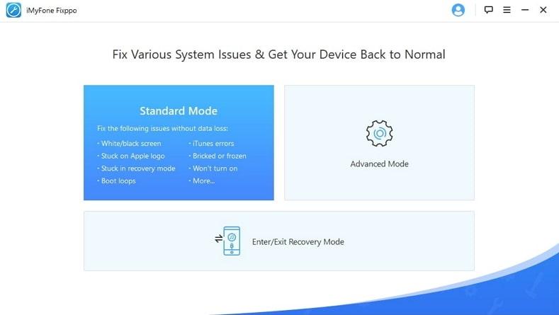 choose Standard Mode