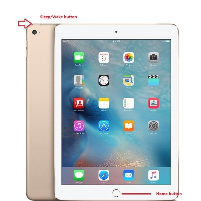 hard reset iPad air 2