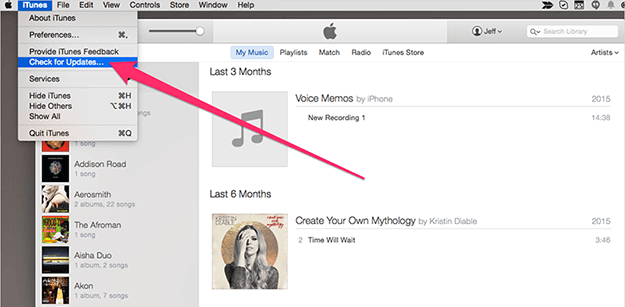 update itunes to the latest version on mac