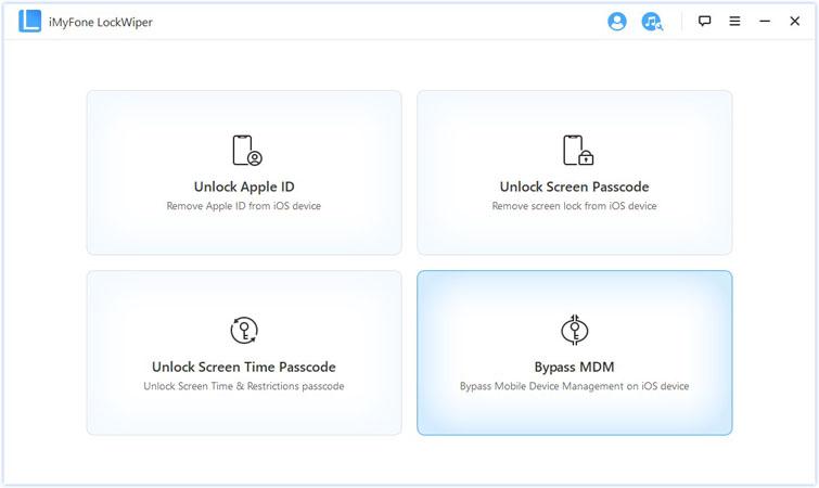 iMyFone LockWiper home screen
