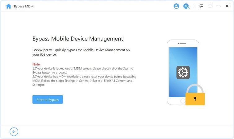 iMyFone LockWiper prepare to bypass mdm