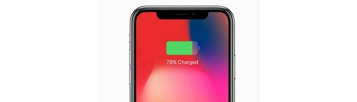 iPhone X Battery Percentage Stuck