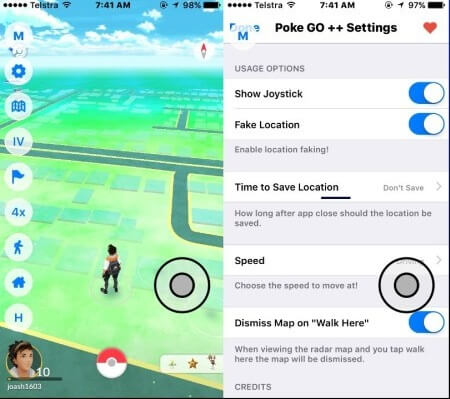 set the location on PokeGo++