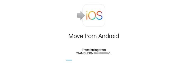 move to ios stuck on transferring