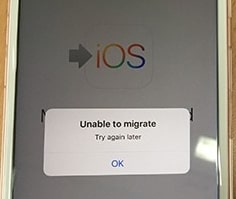 move to ios unable to migrate
