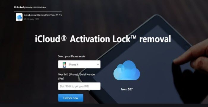 online service for activation lock