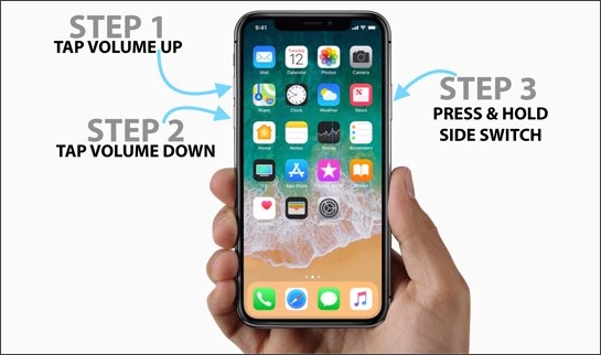 steps to reboot iphone x