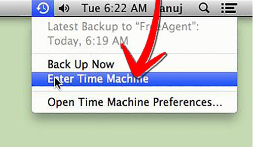 how to recover deleted browsing safari history on mac - Enter Time Machine
