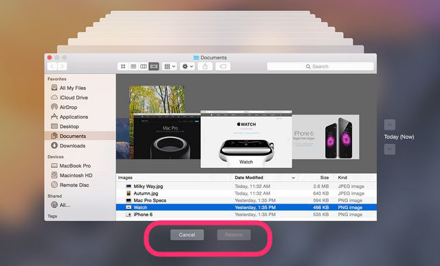 how to recover deleted safari browser history on mac - Select Backups