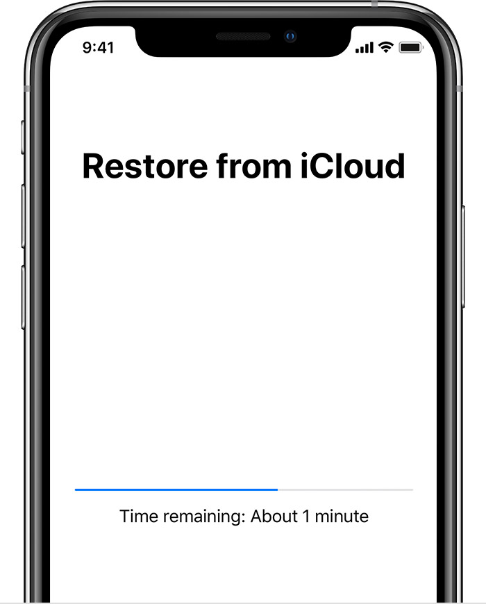 restore icloud backup