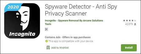 Spyware Detector spyware removal app for android