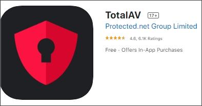 Total AV spyware removal apps for iphone