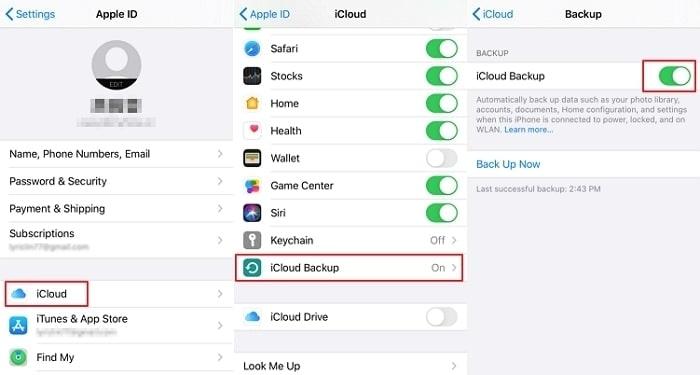 transfer photos between iphones via icloud