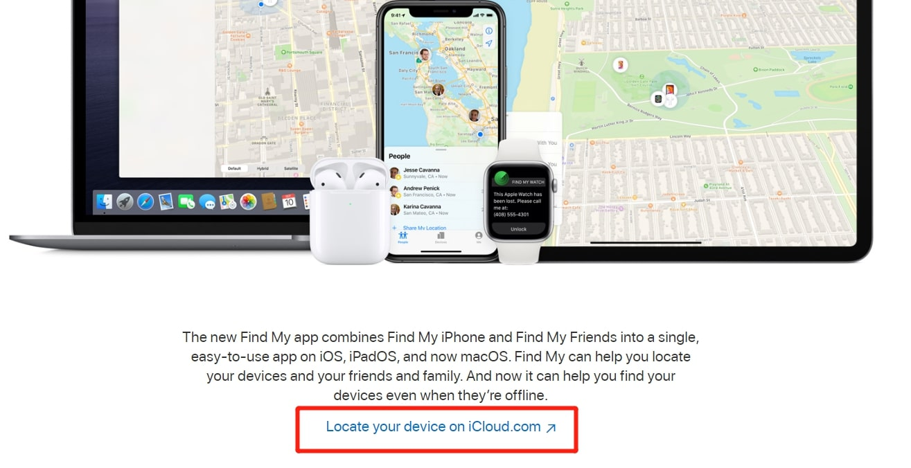 visit find my iphone