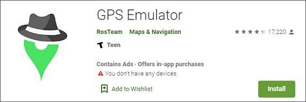 download and install GPS emulator on your phone