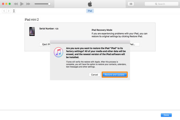 restore and update ipad mini